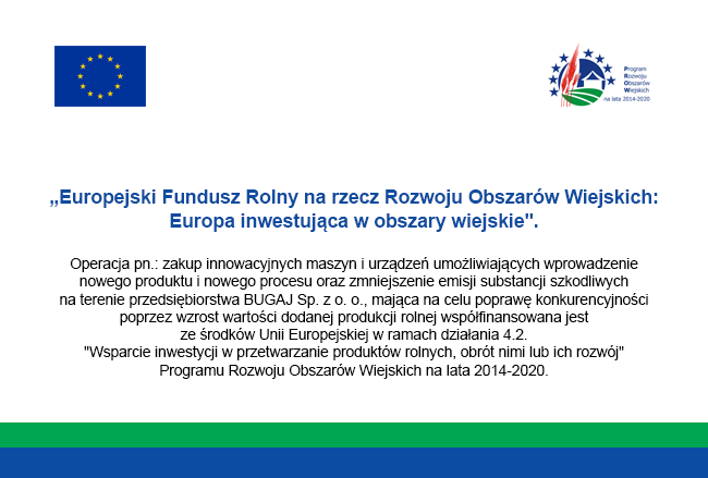 """dotacja z""""Europejski Fundusz Rolny narzecz Rozwoju Obszarów Wiejskich: Europa inwestująca wobszary wiejskie""""."""
